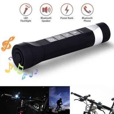 Buy BLACK USB Youoklight 1PCS 1W 5V Cool White Bluetooth Multi-Function Bike Bluetooth Speaker+Mobile Power Bank+Led Flashlight+Bluetooth Call+Fm Radio+Support The Tf Card Contains 18650 Lithium Batteries for $13.21 in GearBest store