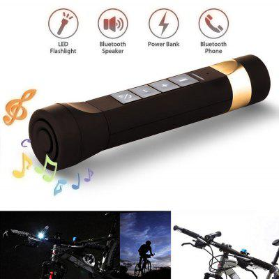 Buy BROWN USB Youoklight 1PCS 1W 5V Cool White Bluetooth Multi-Function Bike Bluetooth Speaker+Mobile Power Bank+Led Flashlight+Bluetooth Call+Fm Radio+Support The Tf Card Contains 18650 Lithium Batteries for $13.21 in GearBest store