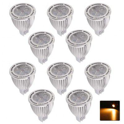 10PCS YWXLight MR16 3030SMD 5-LED incassato illuminazione LED Spotlight AC / DC 12V