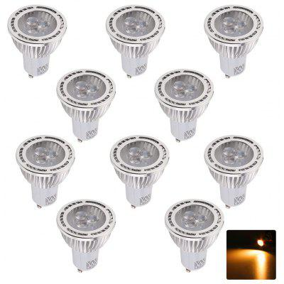 10PCS YWXLight GU10 3W 3-LED incassato Spotlight LED Spot 85 - 265V