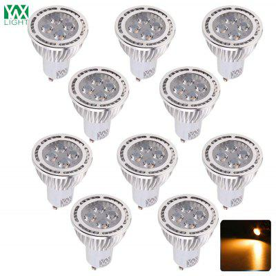 10PCS YWXLight GU10 4W 4-LED ha incassato il riflettore CA di illuminazione 85 - 265V