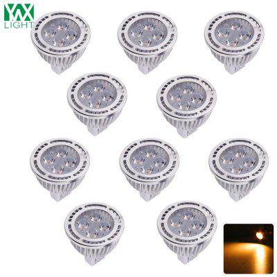 10PCS YWXLight 4W MR16 LED riflettore 180 gradi angolo di fascio AC / DC 12V