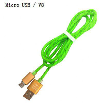 1M Micro Usb / V8 Two-color Candy Line / Phone Charging Data Cable