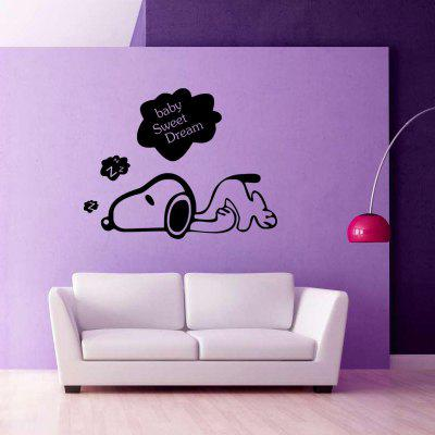 Yeduosleeping Puppy Bedroom Wall Stickers Vinyl Home Decor Decals DIY Poster