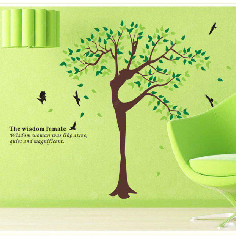 Yeduo Elegant Beautiful Tree Wall Stickers Decorative Personalized Art Mural Stickers Transparent Pvc