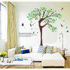 Yeduo Elegant Beautiful Tree Wall Stickers Decorative Personalized Art Mural Stickers Transparent Pvc - COLORMIX