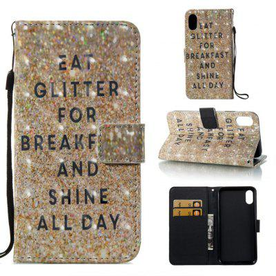 Sparkling Breakfast 3D Pintado Pu Phone Case foriPhone 8