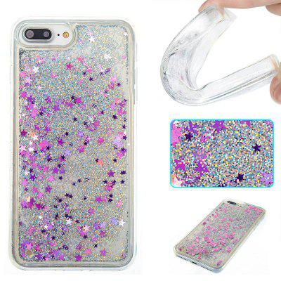 Buy COLORMIX Silver Sand Purple Five-Pointed Star All Soft Tpu Quicksand Phone Case foriPhone 7 Plus for $4.14 in GearBest store
