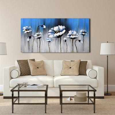Yhhp Abstract Hand Painted Flowers Oil Painting
