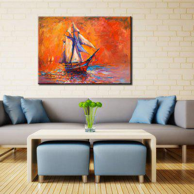 Gearbest Yhhp Hand Painted Abstract Little Boat oil Painting