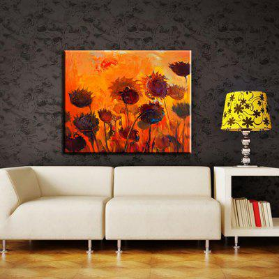 Yhhp Hand Painted Abstract Sunflowers Oil Painting