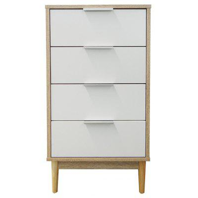 Happyhome Schubaldenschrank Hoch Holzfarbe Weiß 43X39,5X84,5 Cm Support Local Delivery After-sales Service