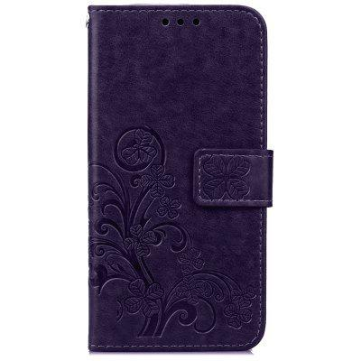 Lucky Clover Holster Leaf Card Lanyard Pu Leather pour Huawei P9