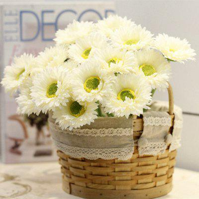 Buy WHITE XM1 10 Branch Silk African Daisy Home Decoration Artificial Flower for $9.48 in GearBest store