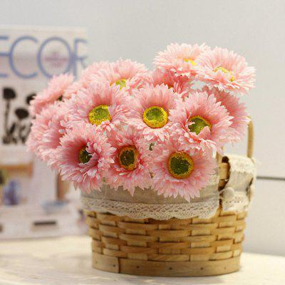 Buy DEEP PINK XM1 10 Branch Silk African Daisy Home Decoration Artificial Flower for $9.48 in GearBest store