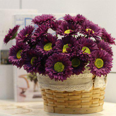 Buy DEEP PURPLE XM1 10 Branch Silk African Daisy Home Decoration Artificial Flower for $9.48 in GearBest store