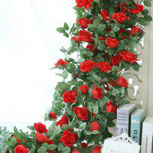 XM1 220CM 16Heads High Simulation Red Rose Flower Vine Wedding Decoration Home Artificial Flower