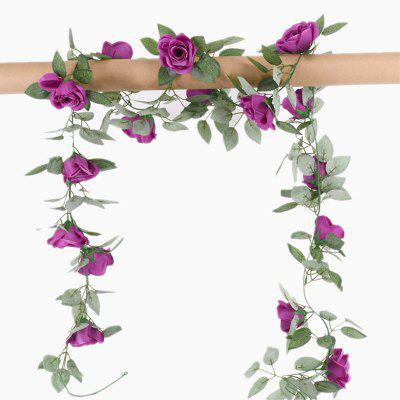Buy XM1 220CM 16Heads High Simulation Violet Rose Flower Vine Wedding Decoration Home Artificial Flower PURPLE Home & Garden > Home Decors > Artificial Flowers for $8.44 in GearBest store