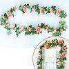 Buy XM1 220CM 16Heads High Simulation Champagne Rose Flower Vine Wedding Decoration Home Artificial CHAMPAGNE