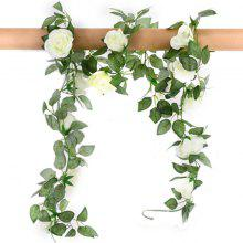 XM1 220CM 16Heads High Simulation White Rose Flower Vine Wedding Decoration Home Artificial Flower