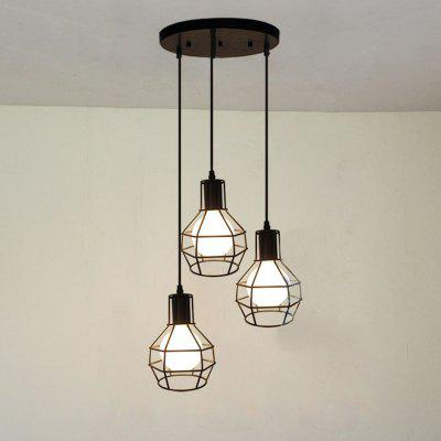 Buy BLACK Cxylight, Cxylight Minimalist Creative Personality American Style Country Retro Bedroom Living Room Restaurant Pendant Lights Dd-032 for $63.37 in GearBest store