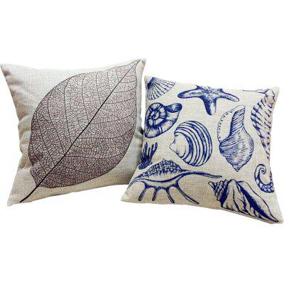 2PCS Good Quality Linen Cushion Covers Pillow Case