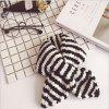 Baby Scarf Unisex Striped Color Block Scarf - BLACK WHITE