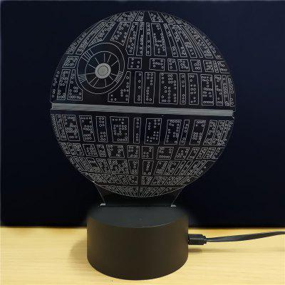 M.Sparkling Creative 3D LED Lamp Star Wars The Death Star Shape Table Lamp3D Lamps<br>M.Sparkling Creative 3D LED Lamp Star Wars The Death Star Shape Table Lamp<br><br>Available Light Color: RGB<br>CCT: 3000-6000K<br>Emitter Types: SMD 3528<br>LED Quantity: 6<br>Material: ABS<br>Model: TD062<br>Package Contents: 1 x Acrylic Board, 1 x Abs Pedestal, 1 x Usb Cable, 1 x English Manual<br>Package size (L x W x H): 24.00 x 17.00 x 5.00 cm / 9.45 x 6.69 x 1.97 inches<br>Package weight: 0.2800 kg<br>Product size (L x W x H): 14.00 x 8.70 x 21.00 cm / 5.51 x 3.43 x 8.27 inches<br>Product weight: 0.1300 kg<br>Suitable for: Party, Holiday Decoration, Home Decoration, Night Light, Home<br>Wattage: 0.5W