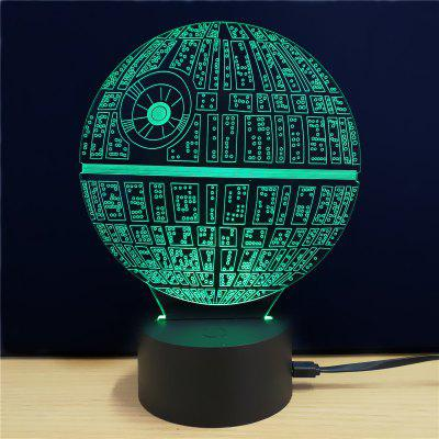 Gearbest M.Sparkling Creative 3D LED Lamp The Death Star Shape Table Lamp - COLORFUL