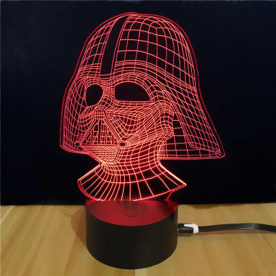Shining Td054 Star Wars Darth Vader Shape 3D LED Lamp 9