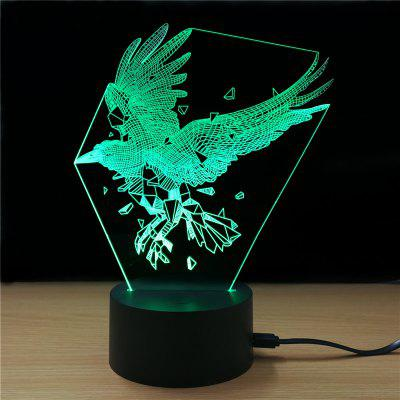 Купить со скидкой Shining Td311 Colorful Eagle Styling USB 3D LED Night Light Desk Lamp