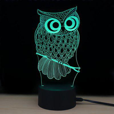 M.Sparkling Td182 Led Lamp 7 Color Changing LED 3D Lamp Owl Touch Atmosphere Night Light3D Lamps<br>M.Sparkling Td182 Led Lamp 7 Color Changing LED 3D Lamp Owl Touch Atmosphere Night Light<br><br>Available Light Color: RGB<br>Emitter Types: SMD 3528<br>Material: ABS<br>Model: TD182<br>Package Contents: 1 x Acrylic Board, 1 x Abs Pedestal, 1 x Usb Cable, 1 x English Manual<br>Package size (L x W x H): 24.00 x 17.00 x 5.00 cm / 9.45 x 6.69 x 1.97 inches<br>Package weight: 0.2800 kg<br>Product size (L x W x H): 10.00 x 8.70 x 22.00 cm / 3.94 x 3.43 x 8.66 inches<br>Product weight: 0.1200 kg<br>Suitable for: Home, Night Light, Holiday Decoration, Home Decoration<br>Wattage: 0.5W