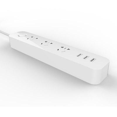 3 Usb Charging Hub Mini Power Strip with 3 Sockets Standard PlugPlugs &amp; Sockets<br>3 Usb Charging Hub Mini Power Strip with 3 Sockets Standard Plug<br><br>Brand: TOCHIC<br>Cable length: 1.8m<br>Color: White<br>Input Current: 10A<br>Material: ABS<br>Output Current: 10A<br>Output Power: 2500W<br>Package Contents: 1 x Power Strip<br>Package size (L x W x H): 27.50 x 7.00 x 5.50 cm / 10.83 x 2.76 x 2.17 inches<br>Package weight: 0.3700 kg<br>Product size (L x W x H): 24.00 x 4.60 x 3.00 cm / 9.45 x 1.81 x 1.18 inches<br>Product weight: 0.3400 kg<br>Special function: Compatible with home office electrical appliances and all USB powered devices<br>Standard: CN standard