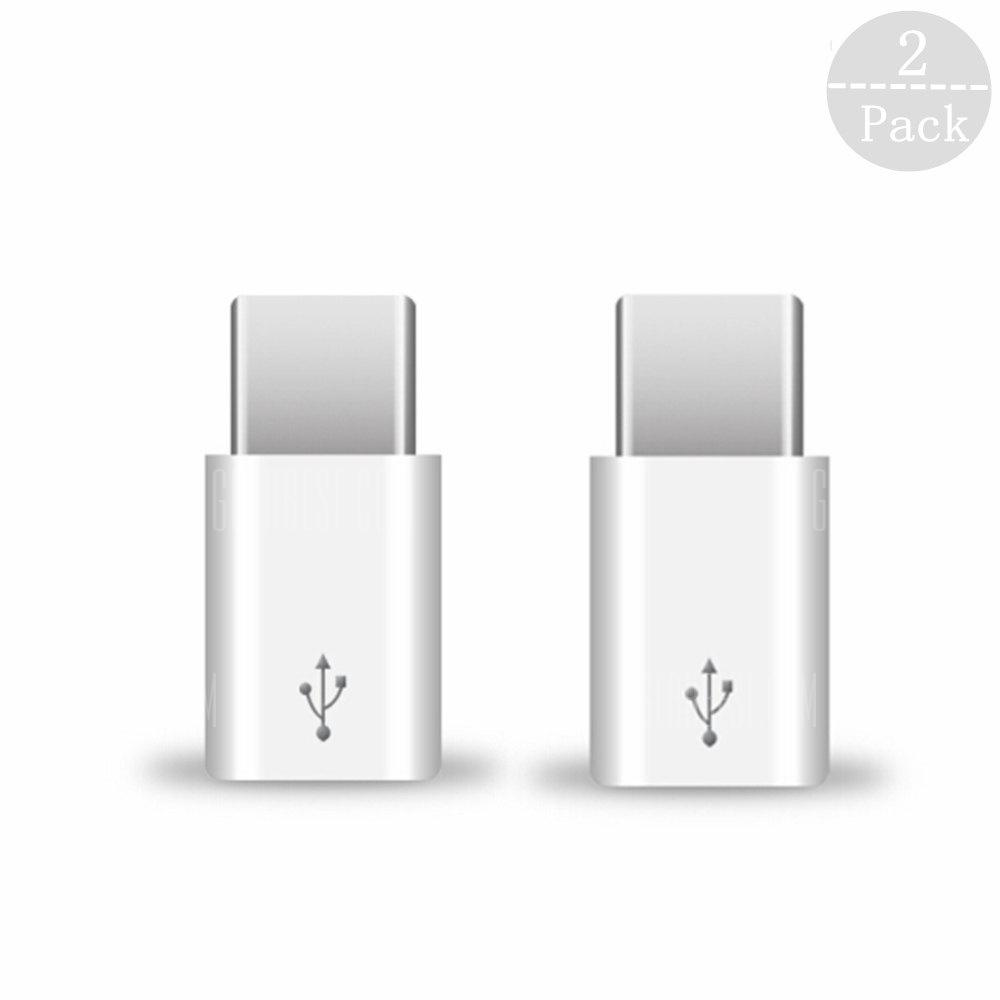 Tochic USB Type-C Male to Micro USB Female Connector Adaptor for Xiaomi 2PCS