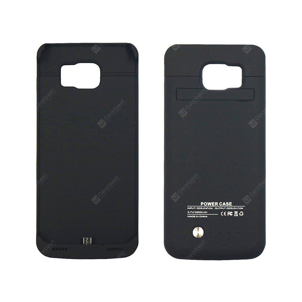 BLACK 3.7v 4200MAH Back Hanging Emergency Battery for Samsung S6 Edge