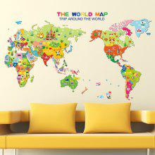 Wall art stickers wall decals and home wallpaper online shopping colorful world map wall sticker decal vinyl art kids room office gumiabroncs Image collections