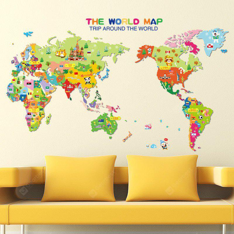 Colorful world map wall sticker decal vinyl art kids room office colorful world map wall sticker decal vinyl art kids room office gumiabroncs Image collections