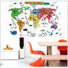 Cartoon Map of The Word Wall Stickers Removable Stickers - MIX COLOR