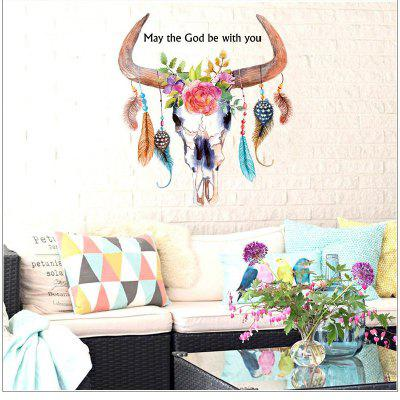 Colorful Cow Wall Sticker for Childrens Room Living Room Diy Decal