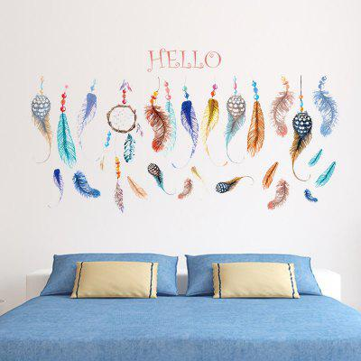 Feather Decals Wedding Decoration Gifts Poster Stickers for Home