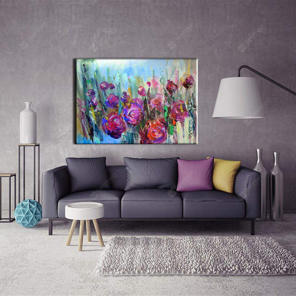 Yhhp Hand Painted Abstract Rose decoration Canvas Oil Painting