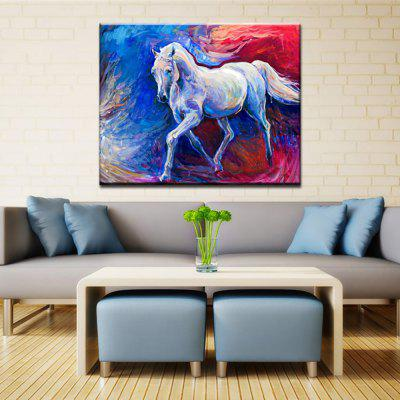 Yhhp Hand Painted Abstract Horse Decoration Canvas Oil Painting