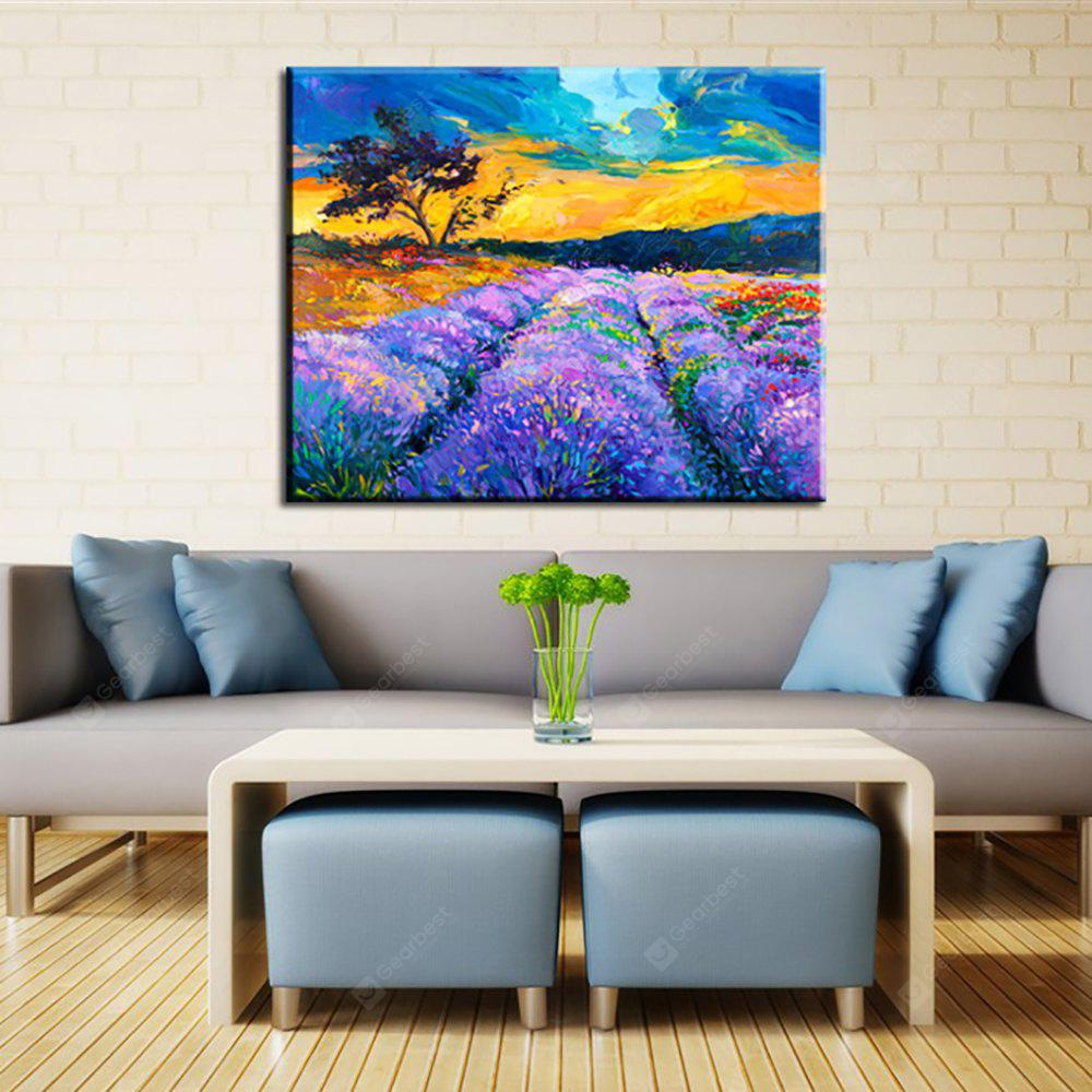 Yhhp Hand Painted Lavender Base Decoration Canvas Oil Painting