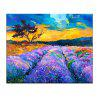Yhhp Hand Painted Lavender Base Decoration Canvas Oil Painting - PURPLE + ORANGE