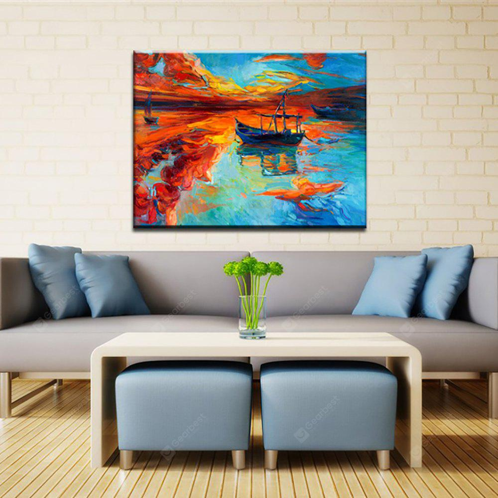 Yhhp Hand Painted Abstract Back From Boat Decoration Canvas Oil Painting