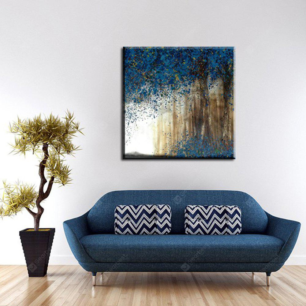 Yhhp Oil Paintings Modern Abstract Blue Tree Hand-Painted Canvas Ready To Hang