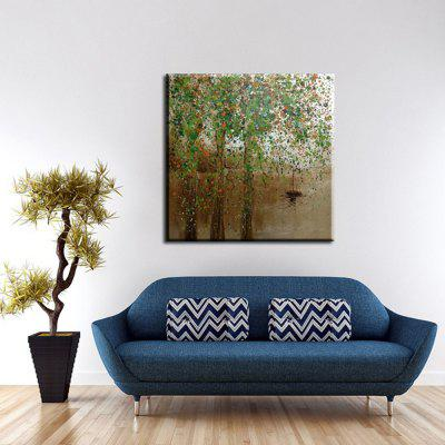Yhhp Oil Paintings Modern Abstract Green Tree Hand-Painted Canvas Ready To Hang
