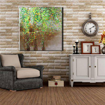 Yhhp Oil Paintings Modern Abstract Lake Green Tree Hand-Painted Canvas Ready To Hang