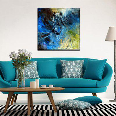 Yhhp Hand Painted Abstract  Long Hair Horse Decoration Canvas Oil Painting