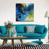 Yhhp Hand Painted Abstract  Long Hair Horse Decoration Canvas Oil Painting - BLUE + BLACK + YELLOW + ARMY GREEN